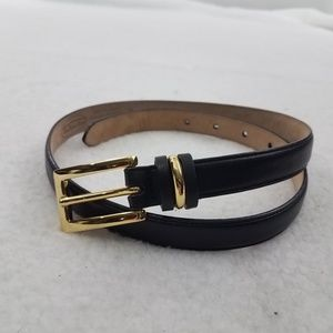 Talbots Accessories - Talbots Size S Womens Waist Belt Black Genuine Lea